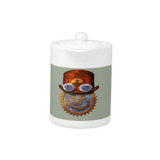 steampunk smiley teapot