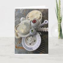 Steampunk-Snake Card
