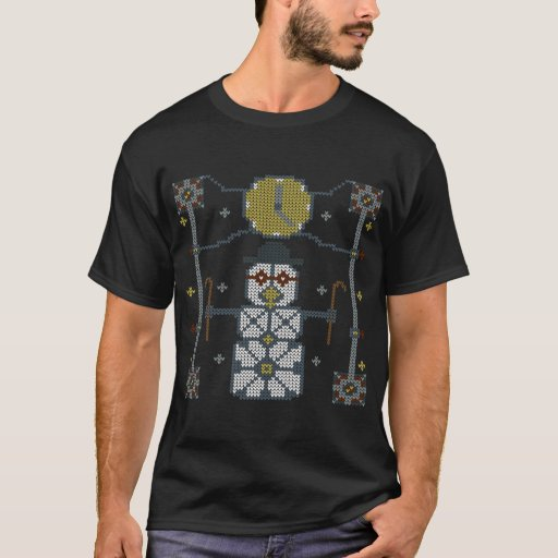 Steampunk Snowman Ugly Christmas Sweater T-Shirt