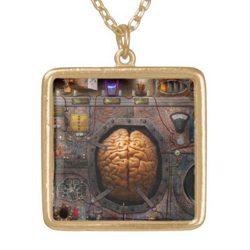 Steampunk - sobrecarga de información colgante cuadrado