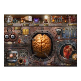 """Steampunk - sobrecarga de información invitación 5"""" x 7"""""""