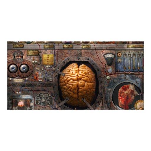 Steampunk - sobrecarga de información tarjeta fotográfica