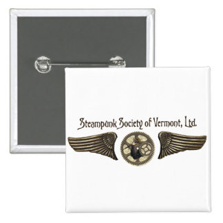 Steampunk Society of Vermont, Ltd. Button