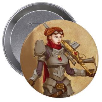 Steampunk Soldier Pinback Button