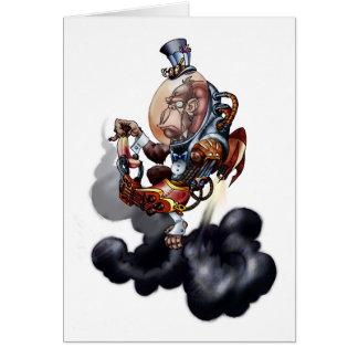Steampunk Space Chimp Card
