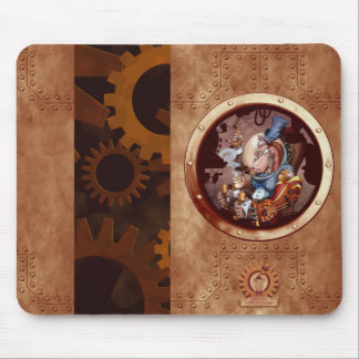 Steampunk Space Chimp Mouse Pad