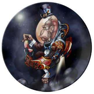 Steampunk Space Chimp Plate