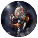 Steampunk Space Chimp Plate Porcelain Plate