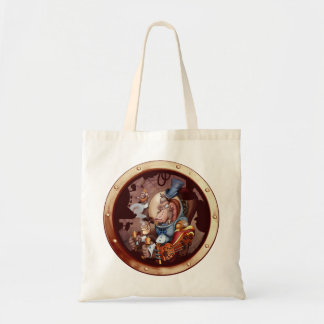 Steampunk Space Chimp Porthole Bag