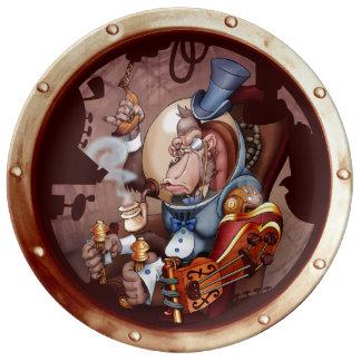 Steampunk Space Chimp Porthole Dish
