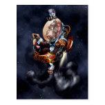 Steampunk Space Chimp Postcard