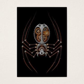 Steampunk Spider, black background Business Card
