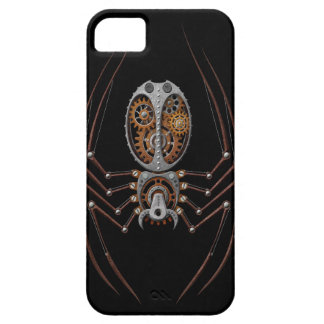 Steampunk Spider black background iPhone 5 Covers