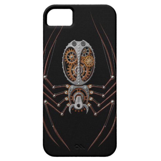 Steampunk Spider, black background iPhone SE/5/5s Case