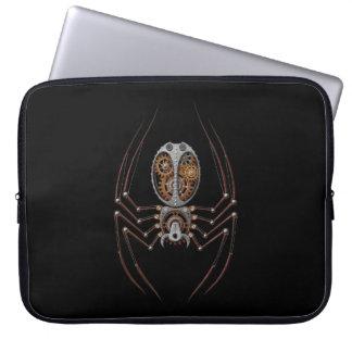 Steampunk Spider, black background Laptop Computer Sleeve