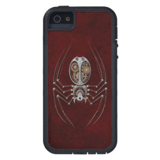 Steampunk Spider on Deep Red iPhone 5/5S Cover
