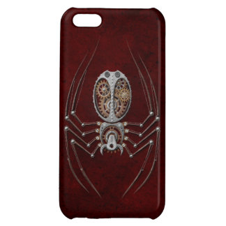 Steampunk Spider on Deep Red iPhone 5C Cases