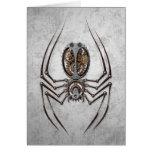 Steampunk Spider on Rough Steel Cards