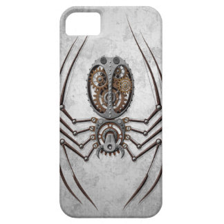 Steampunk Spider on Rough Steel iPhone 5 Cases