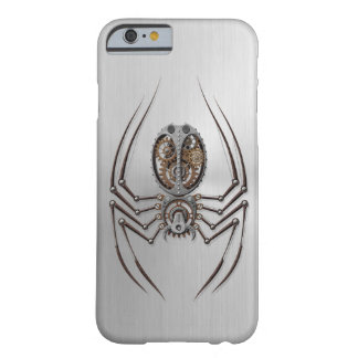 Steampunk Spider with Stainless Steel Effect Barely There iPhone 6 Case