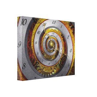 Steampunk - Spiral - Infinite time Canvas Print