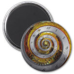 Steampunk - Spiral - Infinite time Fridge Magnets