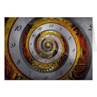 Steampunk - Spiral - Infinite time Greeting Card