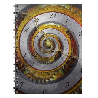 Steampunk - Spiral - Infinite time Spiral Note Books
