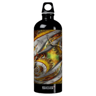 Steampunk - Spiral - Space time continuum Aluminum Water Bottle