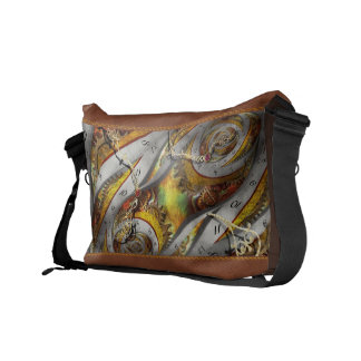 Steampunk - Spiral - Space time continuum Courier Bag