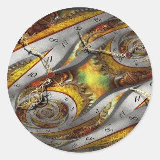 Steampunk - Spiral - Space time continuum Round Stickers