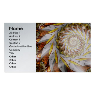 Steampunk - Spiral - Time Iris Double-Sided Standard Business Cards (Pack Of 100)