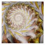 Steampunk - Spiral - Time Iris Ceramic Tiles