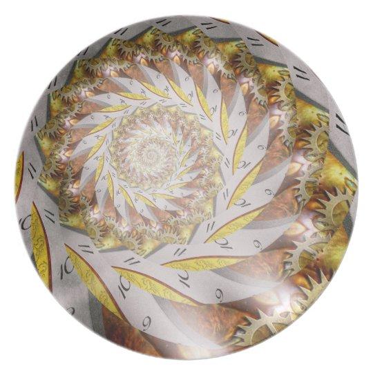 Steampunk - Spiral - Time Iris Dinner Plate