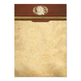 Steampunk - Spiral - Time Iris 5x7 Paper Invitation Card