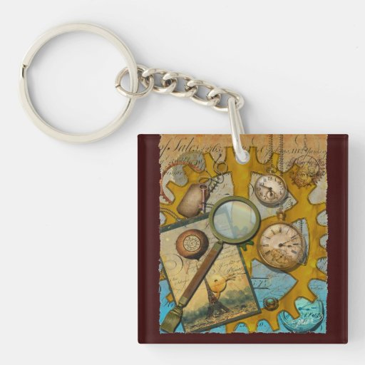 Steampunk Spyglass Acrylic Key Chain