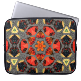 Steampunk Stained Glass Mandala Computer Sleeve