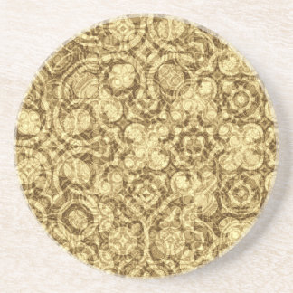 Steampunk Stained Surface Pattern Coaster