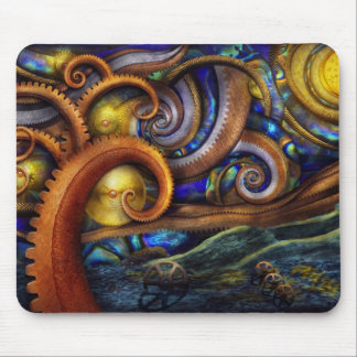 Steampunk - Starry night Mouse Pad