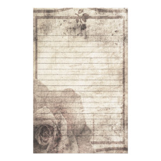 Steampunk Stationery - Antique Rose
