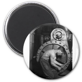 Steampunk Steam Pump Mechanic 2 Inch Round Magnet