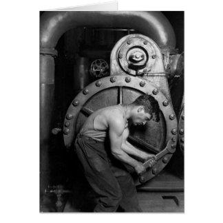 Steampunk Steam Pump Mechanic Card