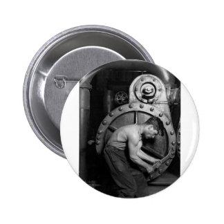 Steampunk Steam Pump Mechanic Pinback Button