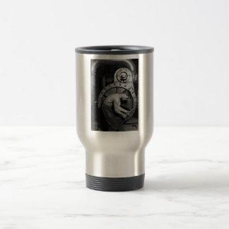 Steampunk Steam Pump Mechanic Travel Mug