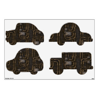 Steampunk Steampowered Cars Wall Decal