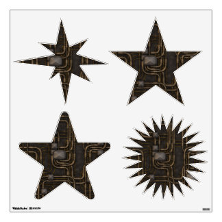 Steampunk Steampowered Stars Wall Decal