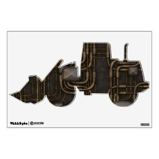 Steampunk Steampowered Tractor Wall Decal