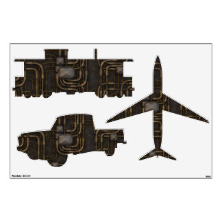 Steampunk Steampowered Transportation Wall Decal