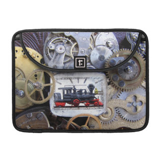 Steampunk Steamtrain Macbook Case cover with Gears Sleeve For MacBooks