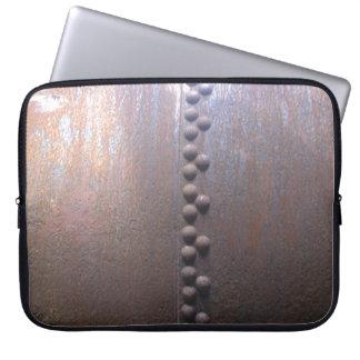 Steampunk Steel-plated Metal-look Gift Computer Sleeve